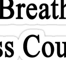 I Breathe Cross Country Sticker