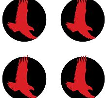 red hawk roundel x4 by spackletoe