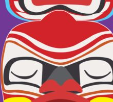 Canada Totem Purple Sticker Sticker