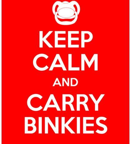 Keep Calm and Carry Binkies Sticker Sticker