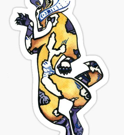 Tribal Wild Dog Sticker