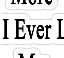 I Love Box More Than I Ever Loved My Ex-Husband Sticker