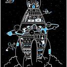 Interstellar Travels - Sticker by Sarah Crosby