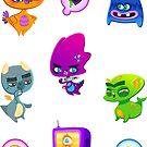 Grumpy Pets (Stickers) - Set One by Curtis Bathurst