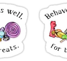 Behaves Well For Treats mini stickers Sticker