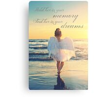 Hold Her In Your Memory Metal Print