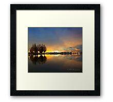 Pastel Lake Framed Print
