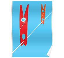 Clothes Pegs Poster