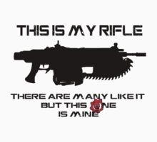 Rifleman's Creed - Gears of War Edition - Black by mymainmandeebo