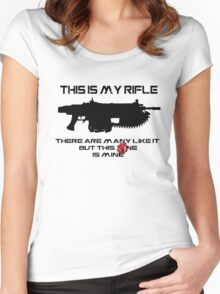 Rifleman's Creed - Gears of War Edition - Black Women's Fitted Scoop T-Shirt