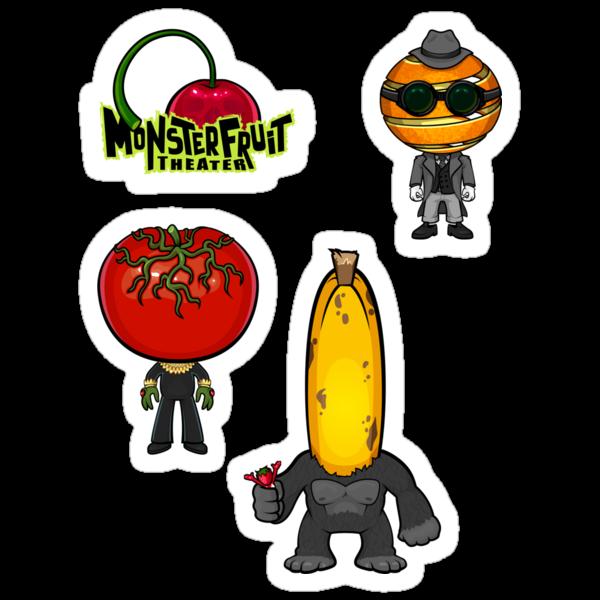 MonsterFruit Theater Large Sticker Sheet 2 by Allison Bair