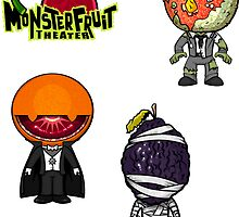 MonsterFruit Theater Large Sticker Sheet 3 by Allison Bair