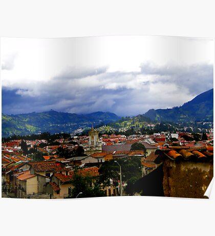 Rooftops Of Cuenca, Ecuador Poster
