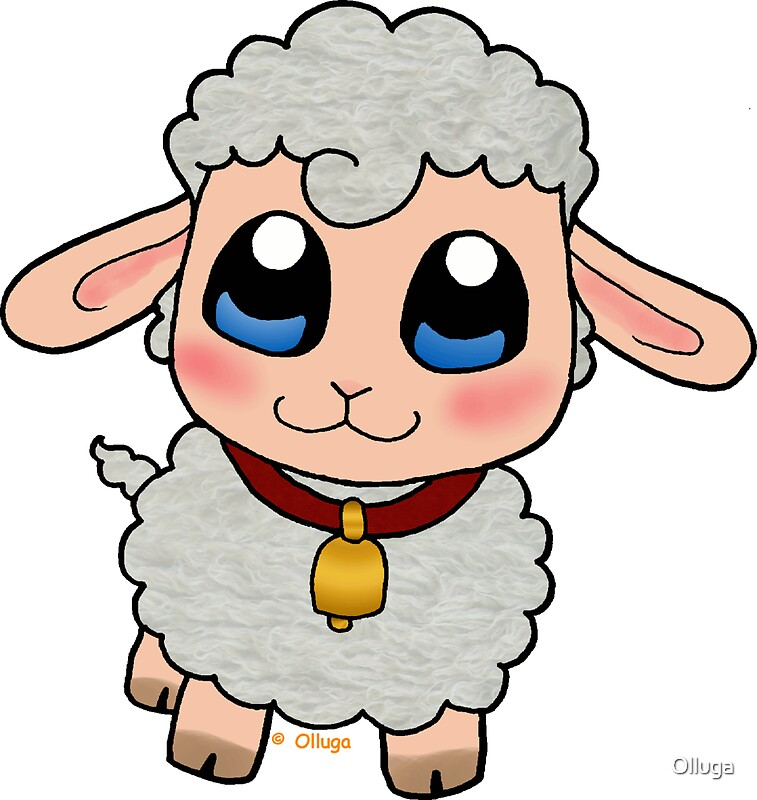 Quot Cute Sheep Quot Stickers By Olluga Redbubble
