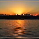 Sun setting at Moreton Bay by Alexey Dubrovin