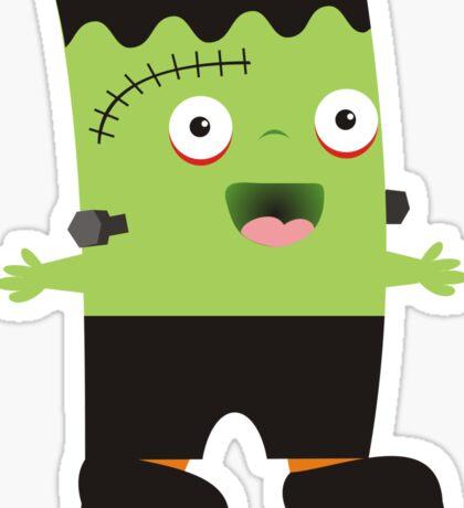 Cute baby Halloween Frankenstein Sticker
