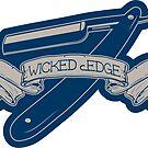 Wicked Edge - Straight Razor Sticker by M Dean Jones