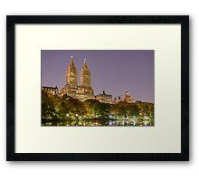San Remo at Night, Central Park, Study 1 Framed Print