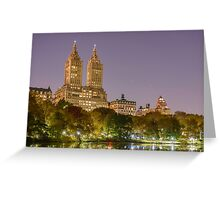 San Remo at Night, Central Park, Study 1 Greeting Card