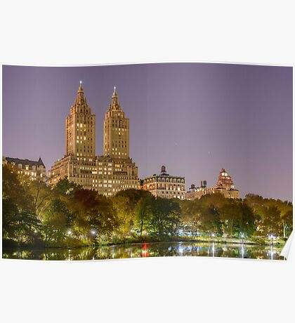 San Remo at Night, Central Park, Study 1 Poster