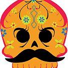 Dia De Los Muertos ~ Skull Sticker by hmx23