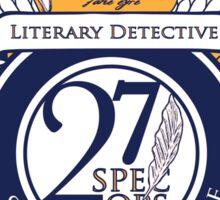 Literary Detective (Sticker) Sticker