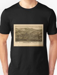 Panoramic Maps Poultney Vt Unisex T-Shirt