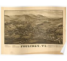 Panoramic Maps Poultney Vt Poster