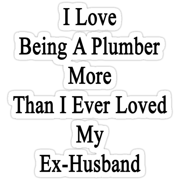 I Love Being A Plumber More Than I Ever Loved My Ex-Husband by supernova23