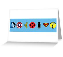 Coexist - comics Greeting Card