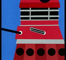 Dalek Sticker by Lascaux