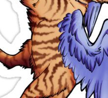 Winged Tabby Cat Sticker Sticker