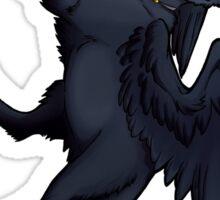 Black Winged Cat Sticker Sticker