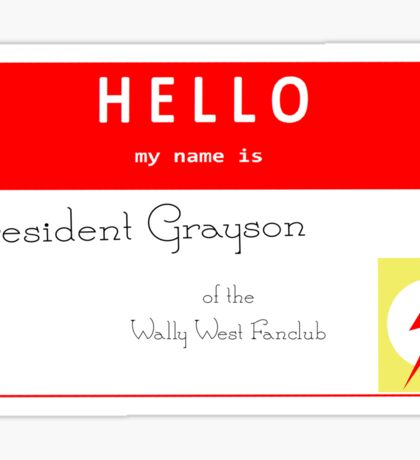 President Grayson Name Tag Sticker