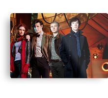 Team TARDIS Metal Print