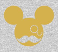 Moustache British Mickey Mouse Kids Tee
