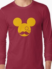 Moustache British Mickey Mouse Long Sleeve T-Shirt