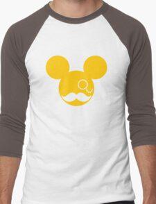 Moustache British Mickey Mouse Men's Baseball ¾ T-Shirt
