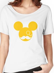 Moustache British Mickey Mouse Women's Relaxed Fit T-Shirt
