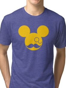 Moustache British Mickey Mouse Tri-blend T-Shirt