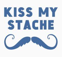 Kiss My Stache One Piece - Short Sleeve