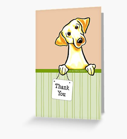 Yellow Lab Summer Melon Thank You Cards Greeting Card