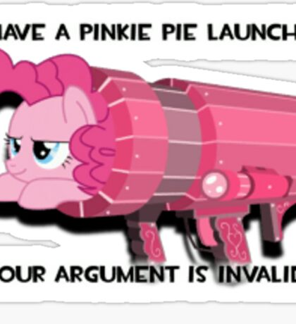Pinkie Launcher Sticker