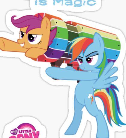 Teamwork Is Magic Sticker