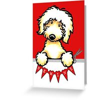 Yellow Labradoodle Valentines Day Paper Hearts Greeting Card