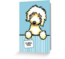 Golden Doodle Thank You Cards Greeting Card