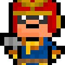 Pixel Captain Falcon Sticker by PixelBlock