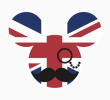 Moustache British Mickey Mouse Kids Clothes