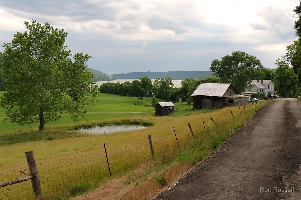 A View of the Ohio River From Ryle Rd. Boone County, Ky. USA by Ron Russell