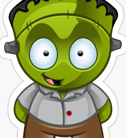 Frankenstein Monster Boy Grinning Sticker